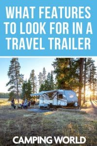 What features to look for in a travel trailer