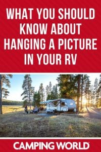 What you should know about hanging a picture in your RV