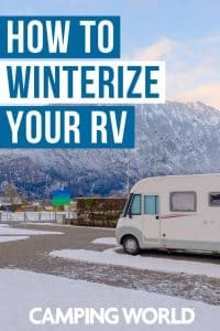 How to winterize your RV