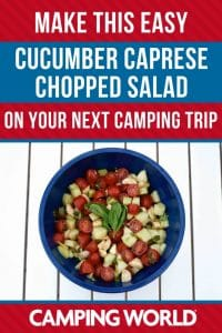Make this easy cucumber caprese chopped salad