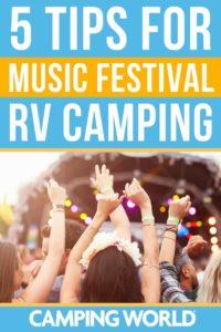 5 tips for music festival RV camping