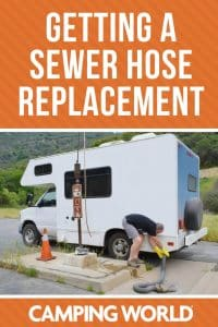 Getting a sewer hose replacement