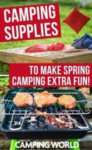Spring camping supplies