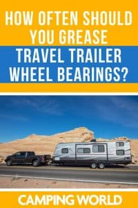 Grease travel trailer wheel bearings