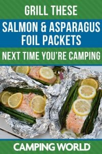 Grill these salmon and asparagus foil packets next time you're camping