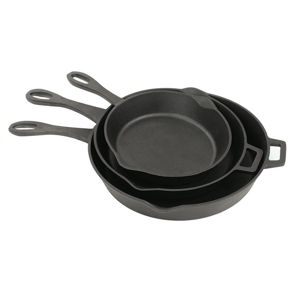 Bayou Classic® 10, 12, and 14-in Cast Iron Skillet Set