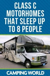 Class C motorhomes that sleep up to 8 people