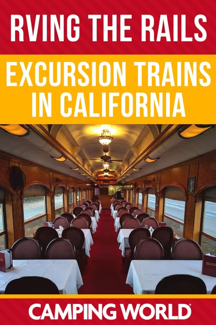 RVing the rails - excursion trains in California