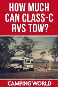 How much can Class C RVs tow?