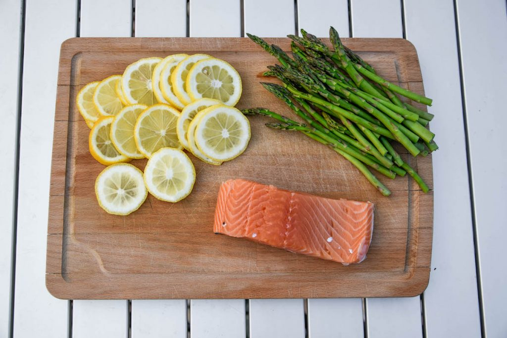 Grilled salmon packet ingredients