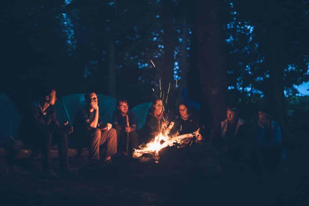friends around a campfire