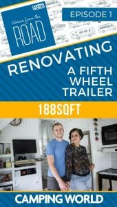 SftR 001: Renovating a Fifth Wheel Trailer with 188sqft
