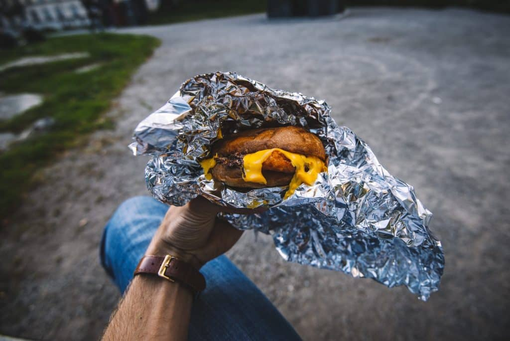 foil packet campfire breakfast