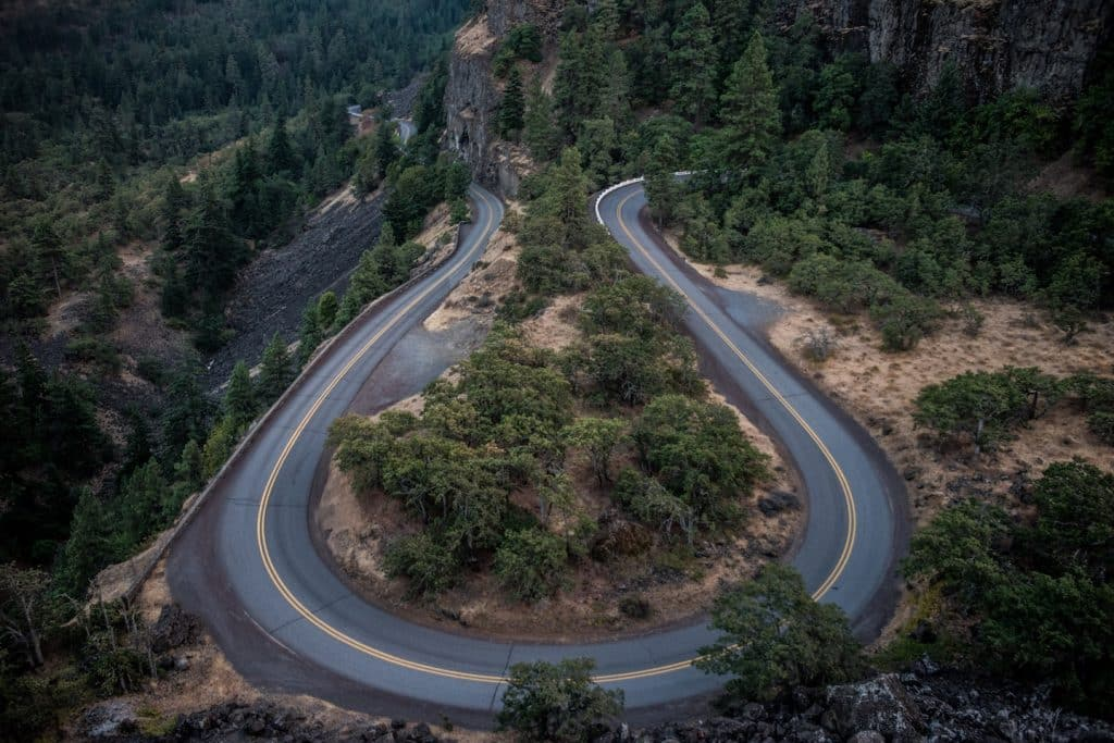 winding uphill roads for rvs