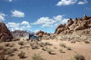RV boondocking in the western US