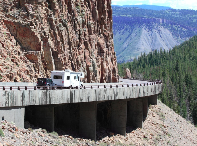 getting to yellowstone rv travel