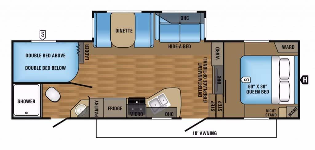 Popular Fifth Wheel Floor Plans Camping World c811c4c0b