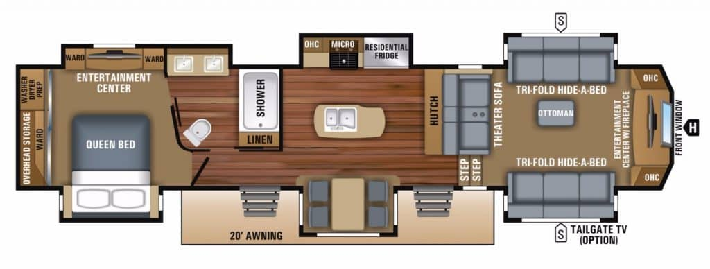 Popular Fifth Wheel Floor Plans Camping