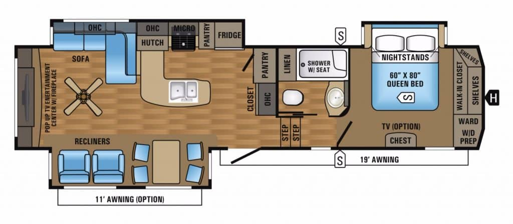 Popular Fifth Wheel Floor Plans Camping World