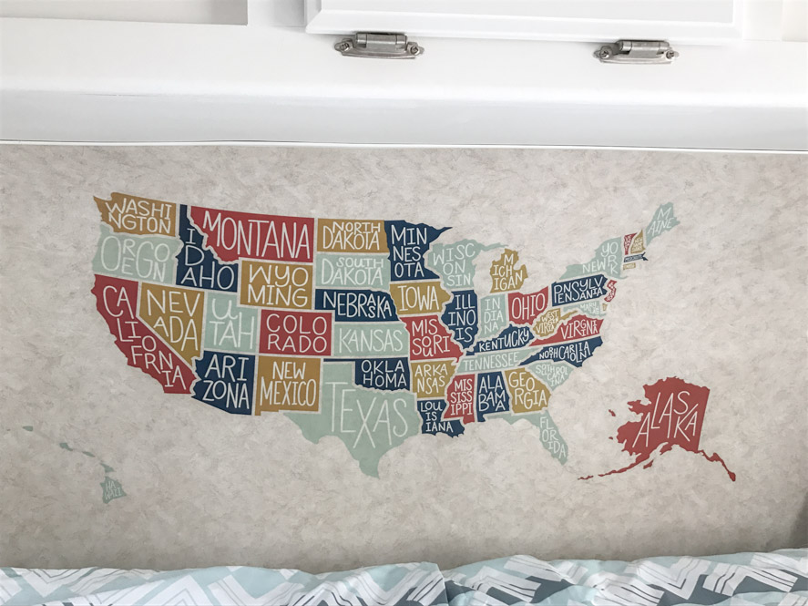 wall decor in an rv