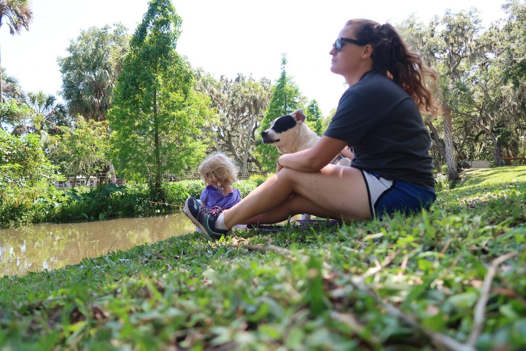 RVing with Kids — relaxing by the water