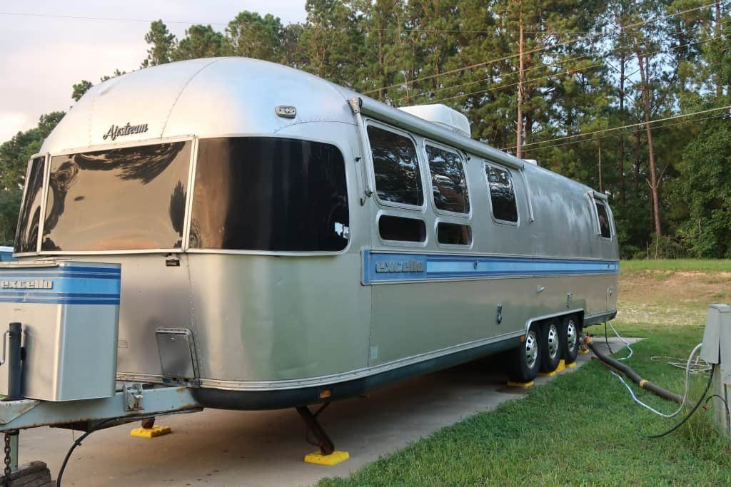 An older travel trailer RV