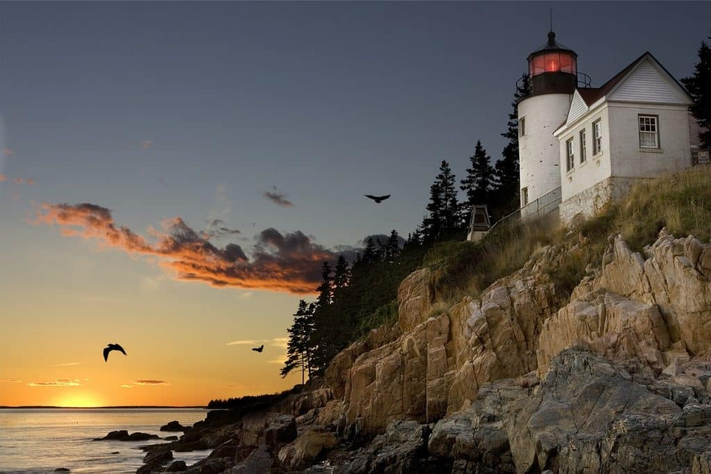 lighthouse at Bar Harbor, Maine