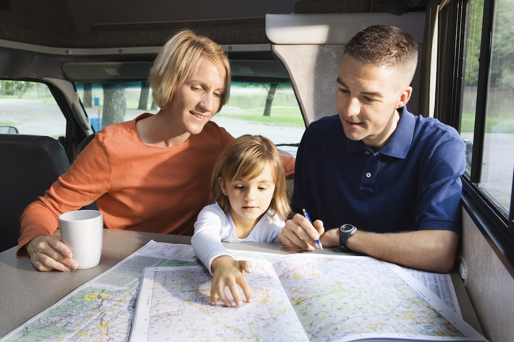 planning an RV trip with a kid