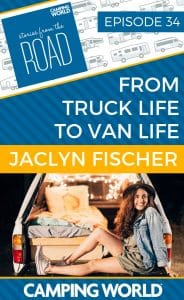 "With (a lot of) help from her dad, Jaclyn converted the back of her 1999 Toyota Tacoma into a camper named ""Dwight,"" and set out on a 8-month road trip. She loved the freedom to travel anywhere in your ""home"" so much that she bought a sprinter van (Dwight 2.0), and is in the process of building it out to do van life full time. #rvlife #rvcampers #rvhack #rvliving #camper #camping #camperlife #happycamper #fulltimerving #fulltimervlife #storiesfromtheroad #digitalnomad"