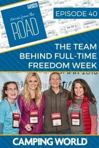 Looking to get out on the road full-time, but not sure where to start? Liz Wilcox, Julie Chickery, and Camille Attell joined us to talk about their online event, developed for full-time RVers. Full-Time Freedom Week is a 5-day online event, giving you all the best RV information and inspiration in one place. #rvlife #rvcampers #rvhack #rvliving #camper #camping #camperlife #happycamper #fulltimerving #fulltimervlife #storiesfromtheroad #digitalnomad