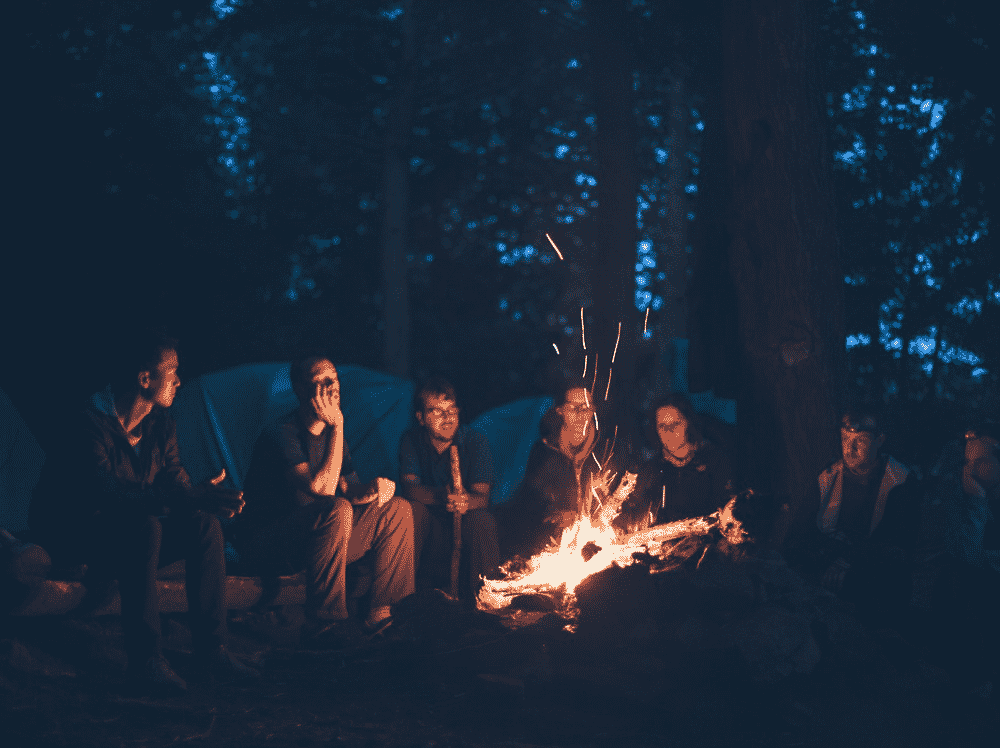 Campfires are especially fun on Halloween when there is a bit of a chill in the air and a thrill at telling ghost stories.