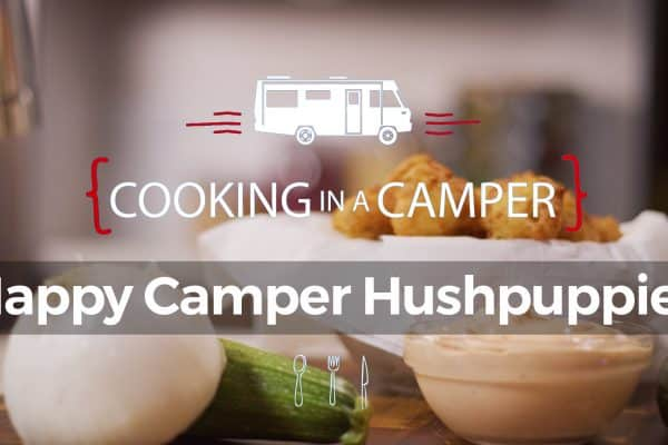 Cooking in a Camper - Happy Camper Hushpuppies