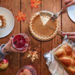 Thanksgiving Dinner with pie