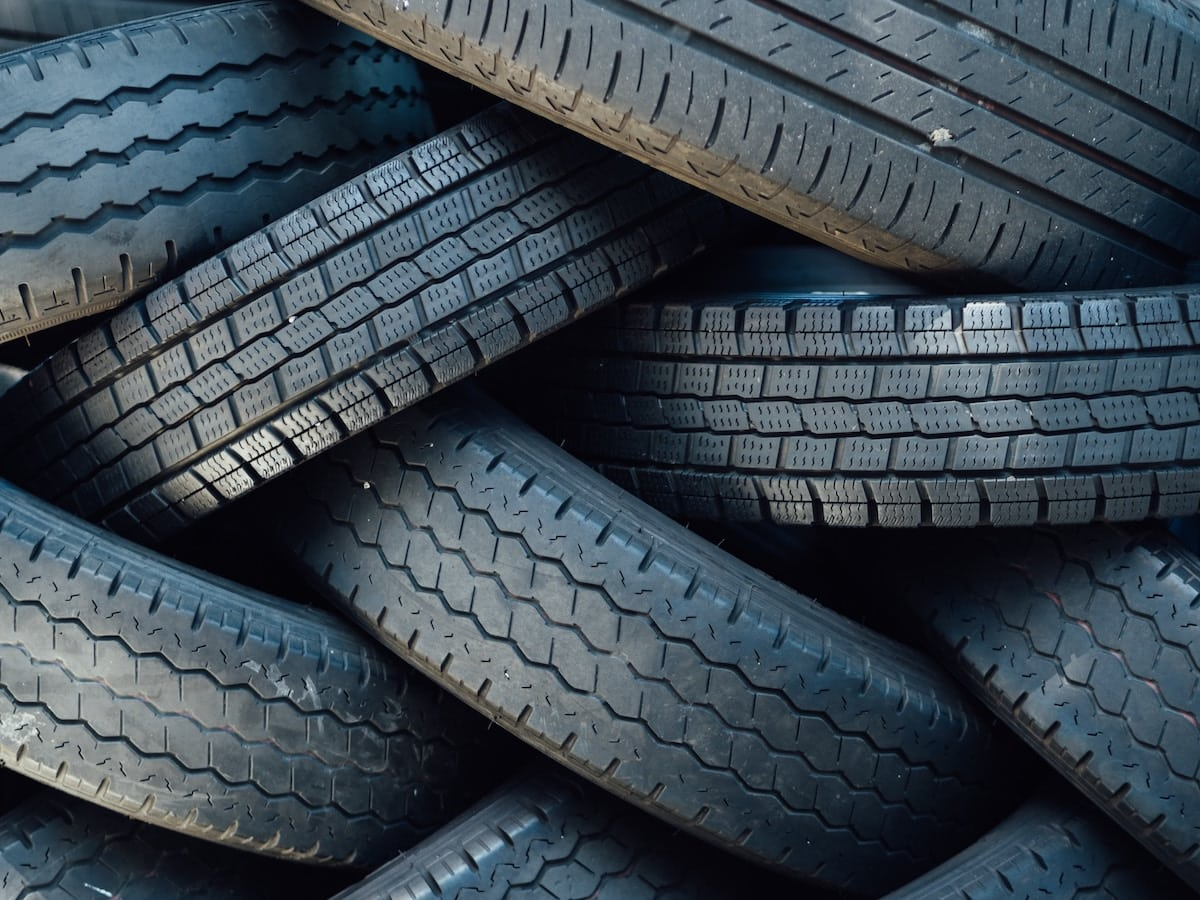 RV tires in a pile