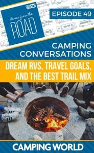 In this episode, Sam brings Kelsey Henry from Positively Delighted on the show to discuss the most important RV related topics, such as dream RVs, travel goals, and what should (and shouldn't) go into trail mix. This is the first episode of a potentially new segment on Stories from the Road that will feature conversations about camping and RV related topics and questions. #storiesfromtheroad #rvlife #rvliving #camping #campingtips #happycamper #trailmix #travelgoals