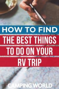 You've picked a destination for your next RV vacation, figured out the route that you'll take to get there, and now you're super excited to start planning all the awesome things you'll do on your trip! So… where do you start? How do you find the best things to do on your RV trip? Here are some of our favorite ways to find awesome things to do on your RV vacation. #rvlife #rvcampers #rvhack #rvliving #camper #camping #camperlife #happycamper
