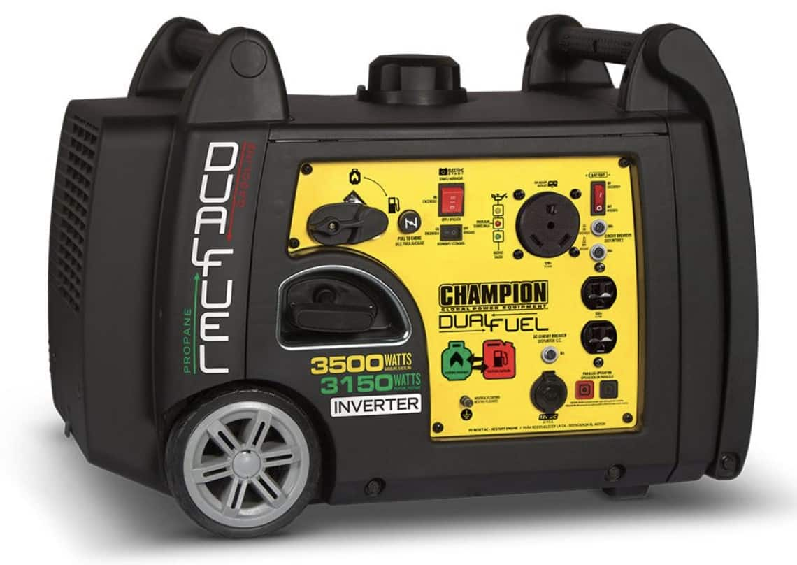 Champion 3500 Watt Dual Fuel Inverter Portable Generator