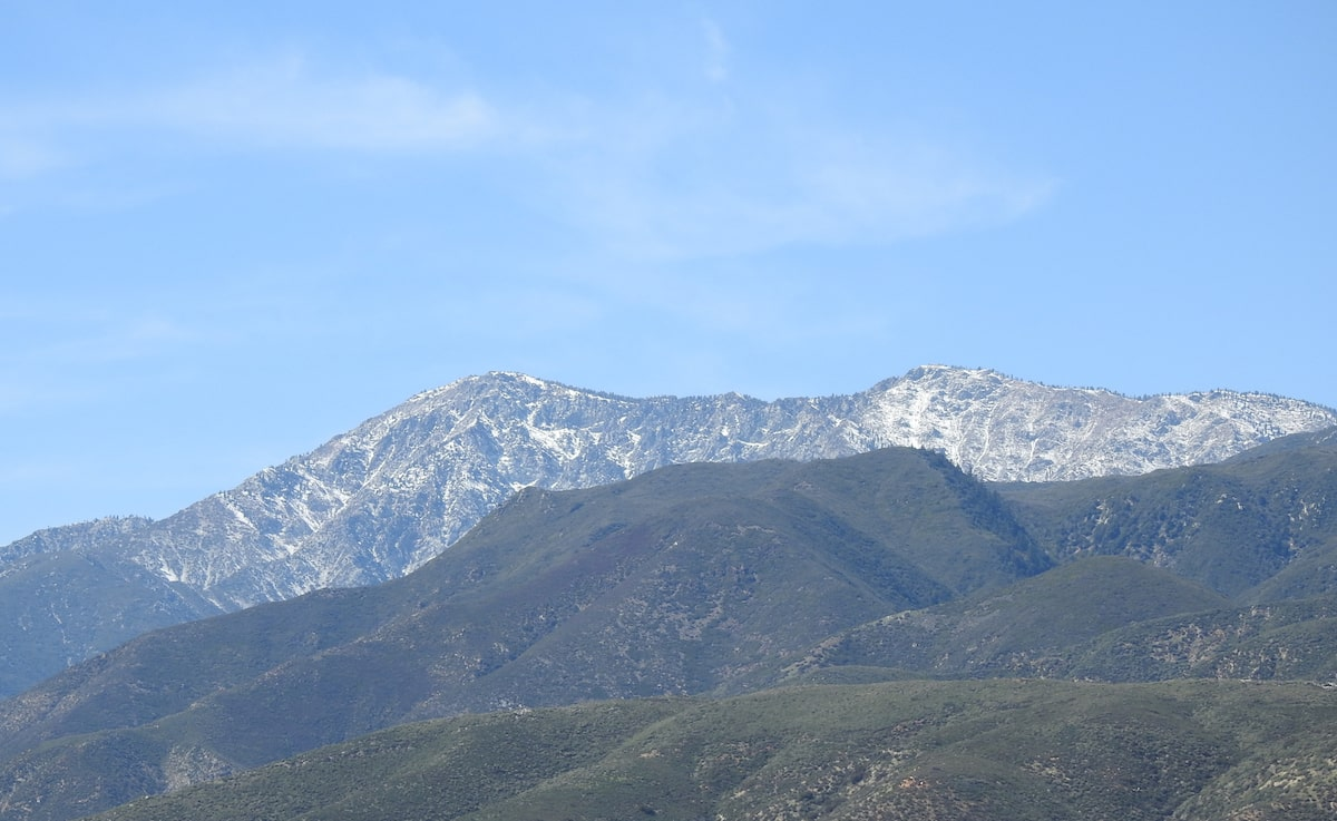 Cucamonga Peak in the San Gabriel Mountains