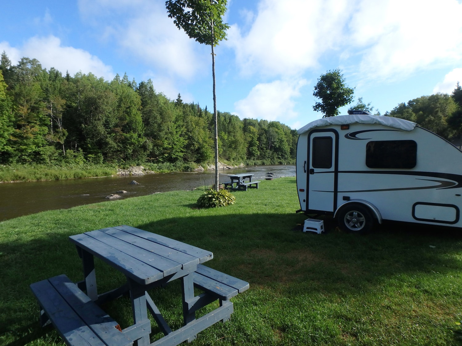Camping in a small travel trailer