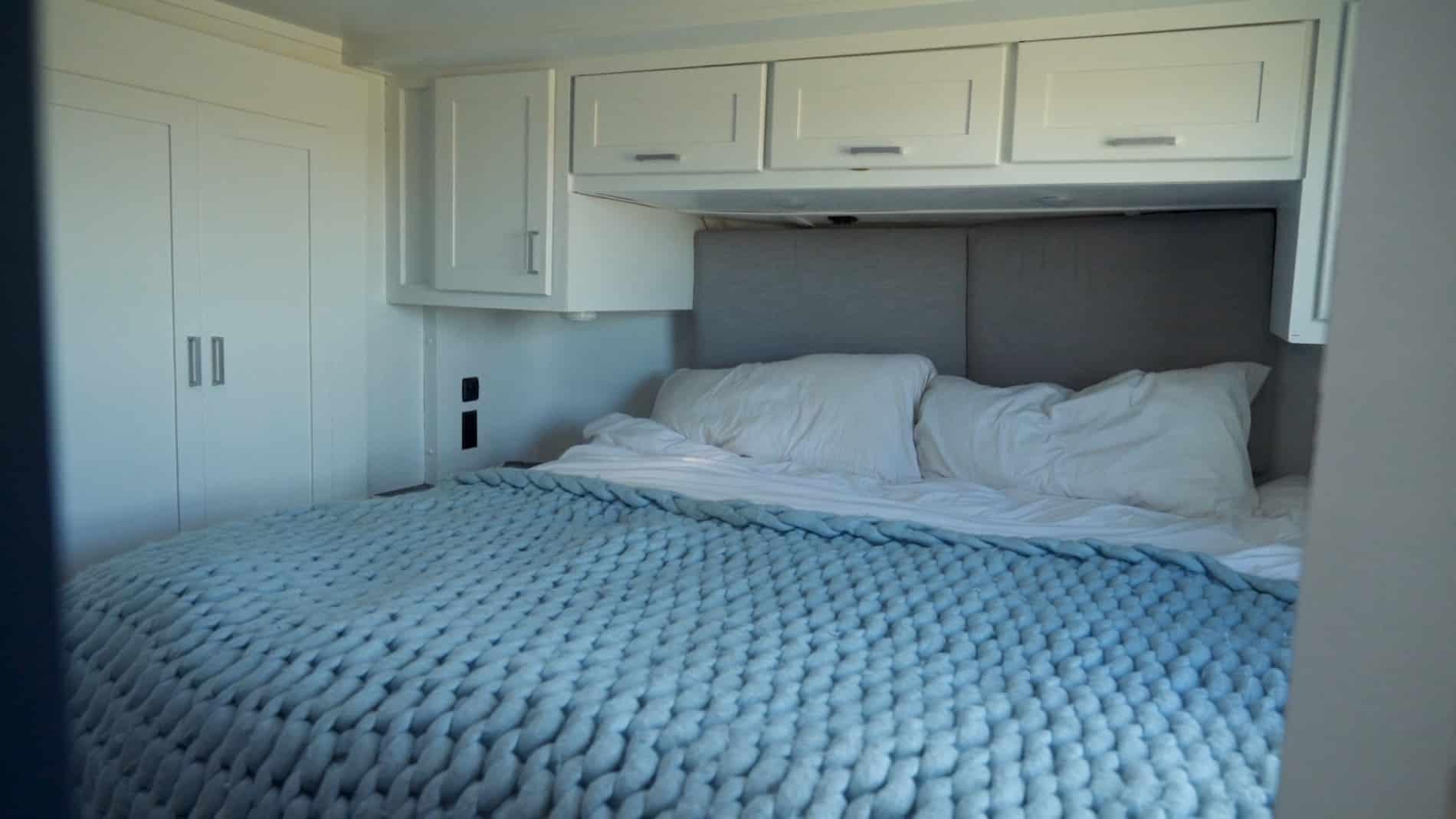 RV bedroom after