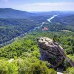 Chimney Rock at Chimney Rock State Park in North Carolina, USA.
