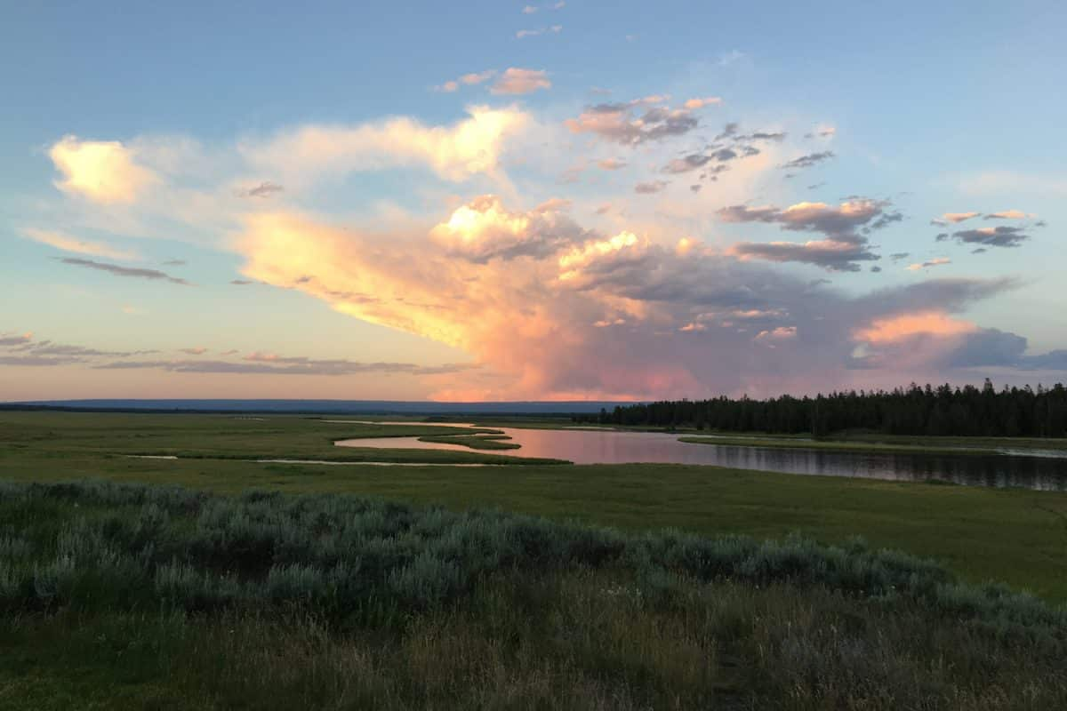 Sunset at Harriman State Park, Idaho