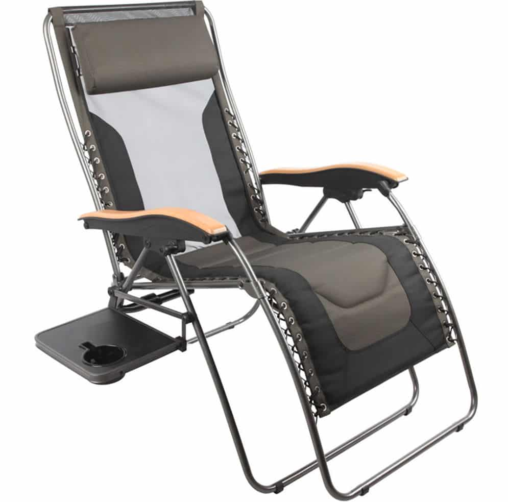 Deluxe Zero Gravity Lounger Black/Grey