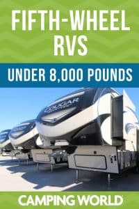 Fifth-Wheel RVs Under 8,000 Pounds