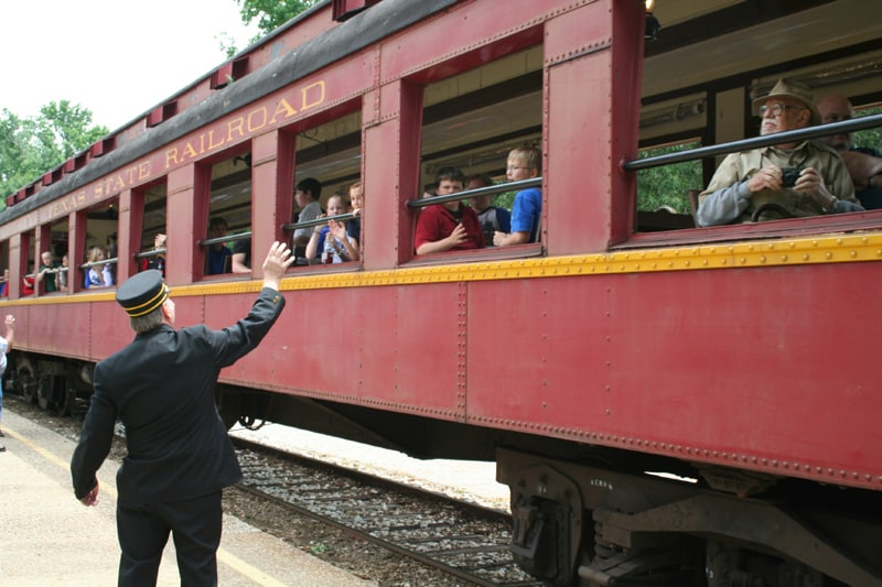 Texas State Railroad Conductor Waves