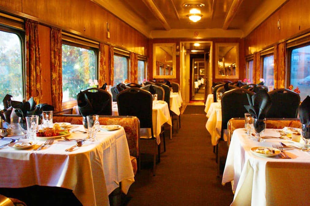Dining Car on Cape Cod Central Train