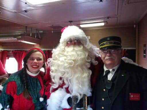 North Pole Express Train with Santa
