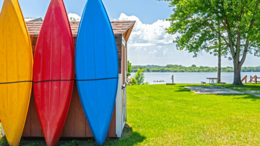 Situated on the shores of beautiful Lake Neshonoc you will findfamily campingat its best!Neshonoc LakesideCamping Resort offers spaciousRVsites with two swimming pools, playground, and sports fields. The best part of course is the 600 acre lake perfect for swimming, fishing, and kayaking.