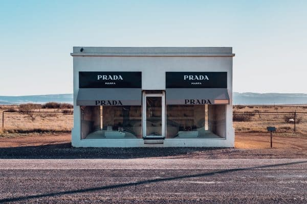 Prada Marfa stands alone in West Texas