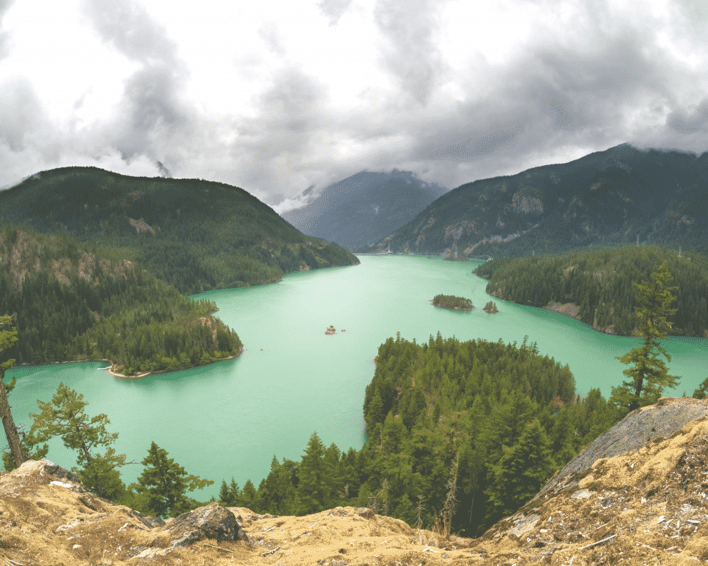 View of Diablo Lake in North Cascades National Park